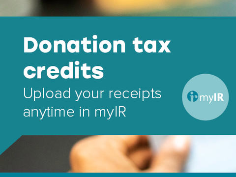 Donation tax credits IRD